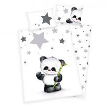 Herding povlečení do postýlky Panda 135x100 cm