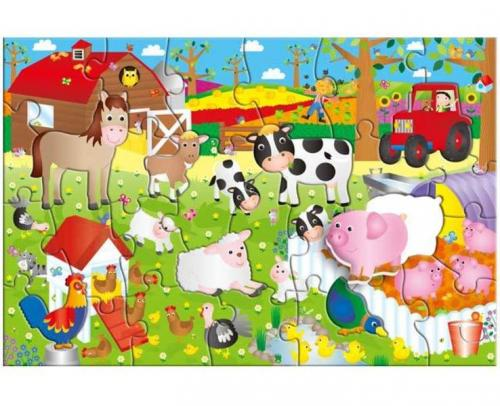 ADC Blackfire Velké podlahové puzzle – na farmě