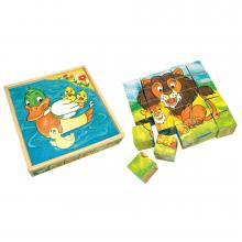 Bino Obrázkové kostky-Zvířátka, 25 ks