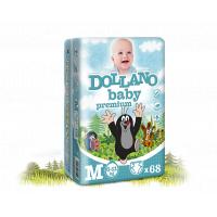 DOLLANO Baby premium M (6-11 kg) 68 ks - jednorázové plenky