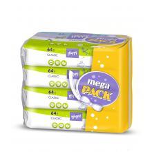Bella Happy Vlhčené ubrousky Classic Mega Pack 4 x 64 ks