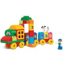 Rappa Stavebnice blocks kostky vlak s čísly, 63 ks