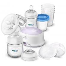 Avent odsávačka mateřského mléka Natural elektronická - sada pro kojení nová