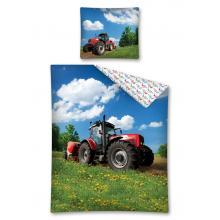 Detexpol Bavlněné povlečení Traktor na louce 140x200 cm