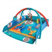 Sunbaby hrací deka a ohrádka modrá se zvířátky