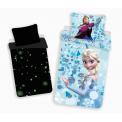 Jerry Fabrics Bavlněné povlečení Frozen svítící efekt Ledové království 140x200 cm