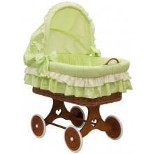 Scarlett Proutěný koš na miminko s boudičkou Dráček - zelená
