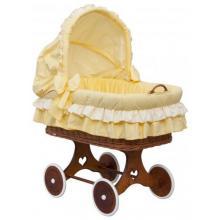 Scarlett Proutěný koš na miminko s boudičkou Dráček - žlutá