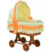 Scarlett Proutěný koš na miminko s boudičkou Martin oranžová