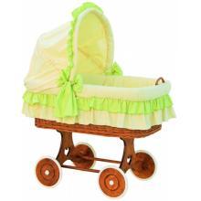Scarlett Proutěný koš na miminko s boudičkou Martin - zelená