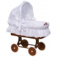 Scarlett Proutěný koš na miminko s boudičkou Péťa bílá
