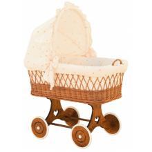 Scarlett Proutěný koš na miminko s boudičkou Šárka - béžová