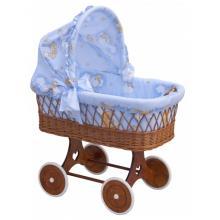 Scarlett Proutěný koš na miminko s boudičkou Mráček modrá