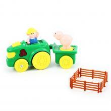 Rappa Traktor s vlečkou se zvukem a světlem