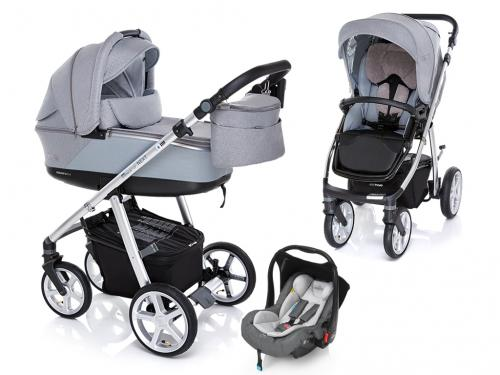 Kočárek Espiro Next Silver s autosedačkou Baby Design Leo