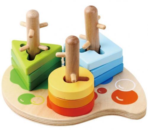 Sunbaby dřevěné puzzle 10 ks