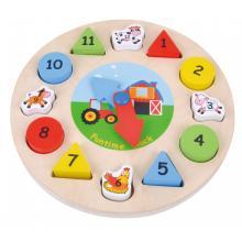 Sunbaby dřevěné hodiny puzzle E01.033.1.1