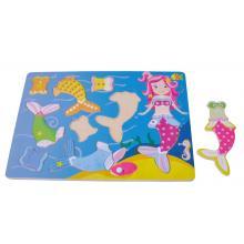 Sunbaby dřevěné puzzle Mořská panna