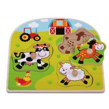 Sunbaby dřevěné puzzle Farma