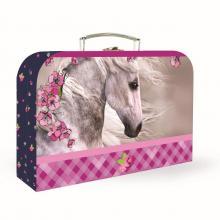 Karton P+P Kufr růžový Kůň, velký