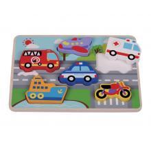 Sunbaby dřevěné puzzle auta