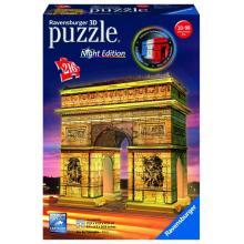 Ravensburger puzzle Vítězný oblouk 3D - noční edice 216 dílků