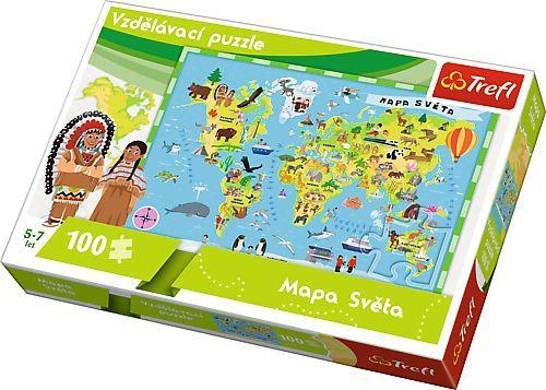 Trefl puzzle Mapa Světa 100 dílků