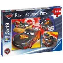 Ravensburger Disney Auta Dobrodružství na silinici, 3x49 dílků