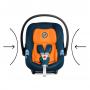 Autosedačka vhodná od narození až do cca 18 měsíců (Sk. 0+, 0 - 13 kg), 45 - 87 cm, max. 13 kg. Aton M i-Size nabízí vyjímatelnou vnitřní vložku, která zaručuje téměř zcela plochou pozici pro předčasně narozené a velmi malé děti. Ochranu dítěte mimo jiné zajišťuje např. L.S.P. System nebo energii absorbující skořepina.