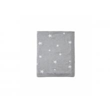 Mamas & Papas Pletená deka hvězdy šedá