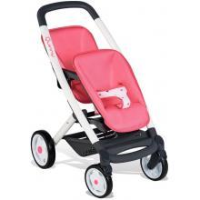 Smoby Sportovní kočárek pro panenky dvojčata Maxi-Cosi růžový