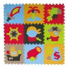 Teddies Pěnové puzzle Pirát 32x32, 9ks