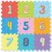 Teddies Pěnové puzzle číslice 32x32cm, 9ks