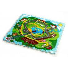Teddies Pěnové puzzle Město Moje první zvířátka 30x30, 9ks