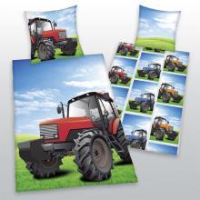 Herding Bavlněné povlečení Traktor červený 140x200 cm