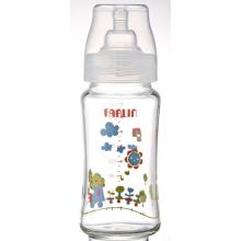 Farlin kojenecká láhev skleněná ŠIROKÁ 240 ml, 9m+