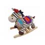 Roztomilá plyšová houpací zebra s dřevěnou základnou a držadly. Se zvuky klapotu zebřích kopýtek.