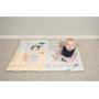 Hrací deka se zvedacími okraji a aktivitami.