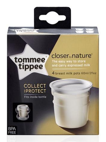 Tommee Tippee Nádobky na skladování mateřského mléka C2N 4 ks, 0m+