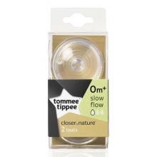 Tommee Tippee Náhradní savičky C2N pomalý průtok, 0m+, 2ks