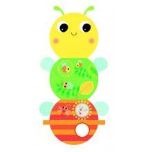 Bright Starts Knížka aktivní na C kroužku Beautiful Bugs včelka
