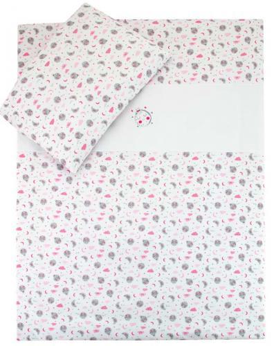 Esito Dětské Povlečení do postýlky Měsíček růžová JERSEY 135x100 cm