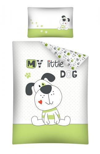 Detexpol povlečení do postýlky My Little Dog zelené 135x100 cm