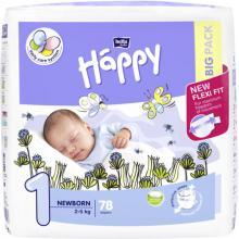 Bella Happy Newborn (2-5 kg) 78 ks - jednorázové pleny