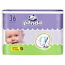 Panda Junior (12-25 kg) 36 ks - jednorázové pleny