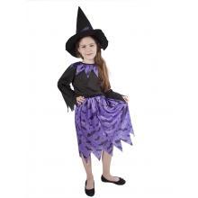 Karnevalový kostým čarodějnice fialová/Halloween, vel. M