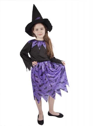 Karnevalový kostým čarodějnice fialová, vel. M