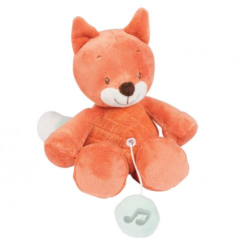 Nattou hračka plyšová hudební liška Oscar FO