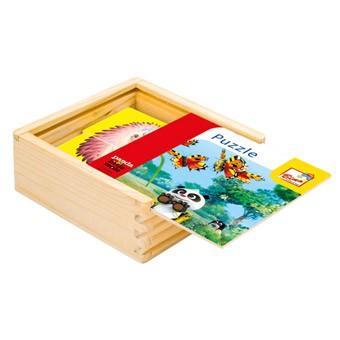 Bino Krtek a Panda, puzzle barevné,16 dílků