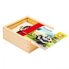 Bino Krtek a Panda, puzzle natur, 16 dílků